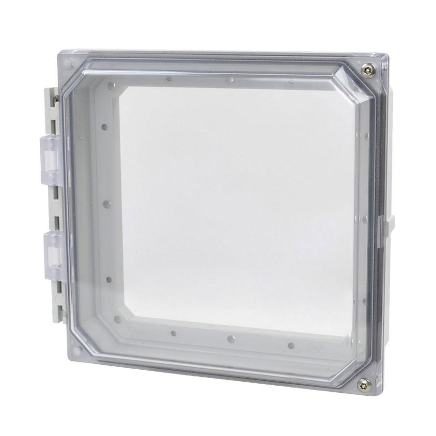 """Allied Moulded 8x8"""" Polycarbonate HMI Cover Kit for Enclosures   AMHMI88CCHTP"""
