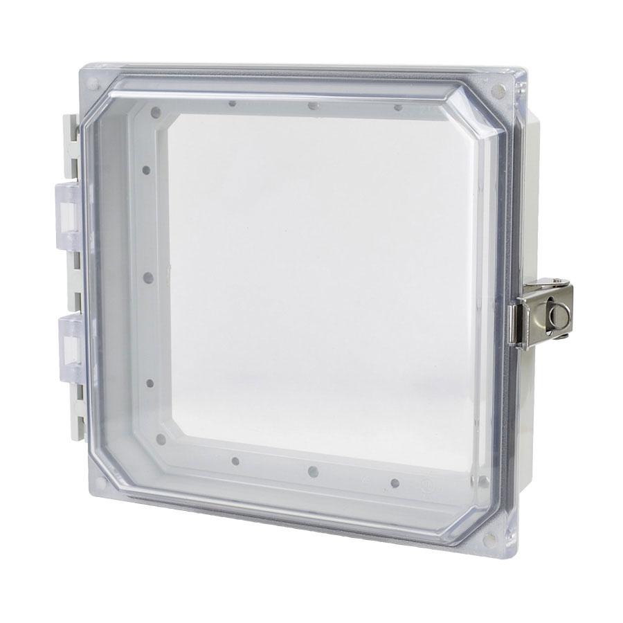 """Allied Moulded 8x8"""" Polycarbonate HMI Cover Kit for Enclosures   AMHMI88CCL"""