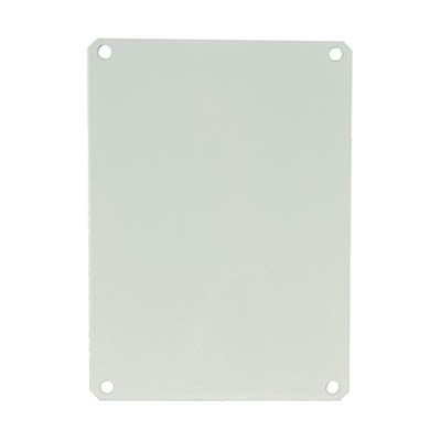 """Allied Moulded Products PL86 Steel Back Panel for 8x6"""" Electrical Enclosures"""