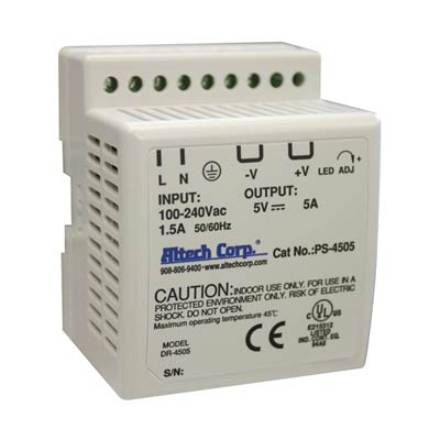Altech PS-4505 45W Single Phase DIN Rail Switching Power Supply