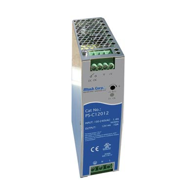 Altech PS-C12012 120W Single/Two Phase DIN Rail Switching Power Supply