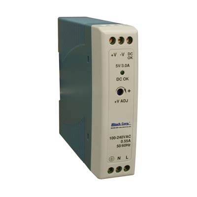 Altech PS-S2012 20W Single Phase DIN Rail Switching Power Supply