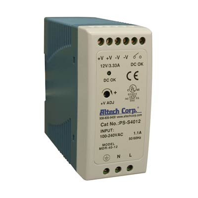 Altech PS-S4012 40W Single Phase DIN Rail Switching Power Supply