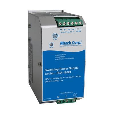 Altech PSA-12024 120W Single Phase DIN Rail Switching Power Supply