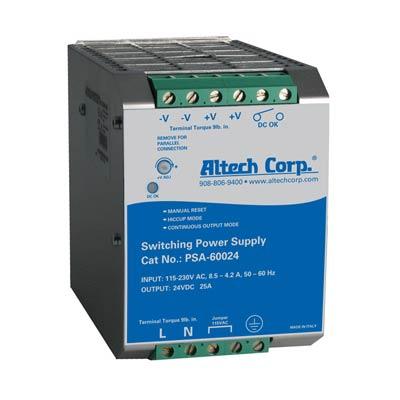 Altech PSA-60024 600W Single Phase DIN Rail Switching Power Supply
