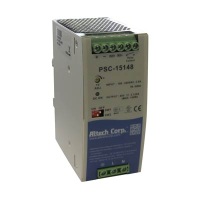 Altech PSC-15148 150W Single Phase DIN Rail Switching Power Supply