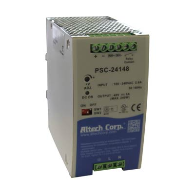 Altech PSC-24148 240W Single Phase DIN Rail Switching Power Supply