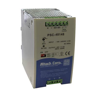 Altech PSC-48124 480W Single Phase DIN Rail Switching Power Supply