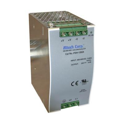 Altech PSH-12048 120W Single/Three Phase DIN Rail Switching Power Supply