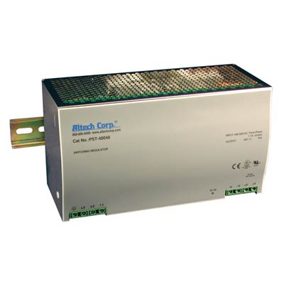 Altech PST-48024 480W Single/Three Phase DIN Rail Switching Power Supply