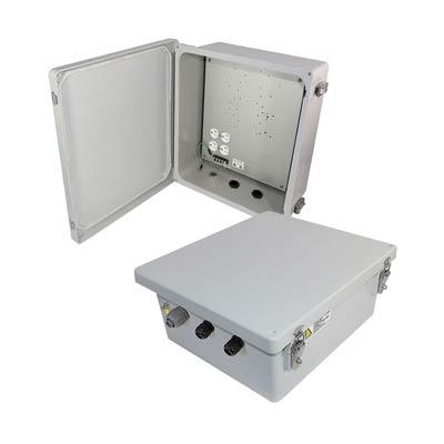 "Altelix 14x12x6"" Fiberglass Enclosure with 120V Power | NF141206A1"