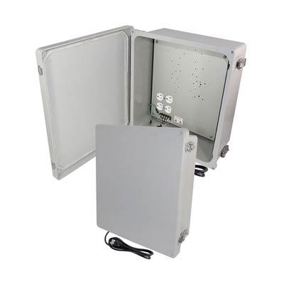 "Altelix 14x12x6"" Fiberglass Enclosure with Cooling Fans & 120V Power | NF141206A1C"