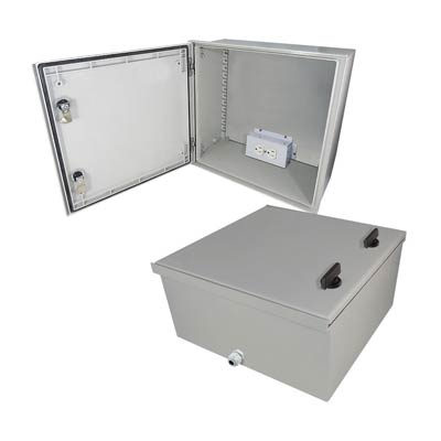 "Altelix 16x16x8"" Fiberglass Enclosure with 120V Power 