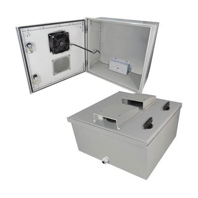 "Altelix 16x16x8"" Fiberglass Enclosure with Heating, Cooling & 120V Power 