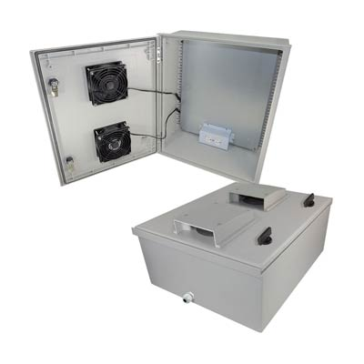 "Altelix 20x16x8"" Fiberglass Enclosure with Heating, Cooling & 120V Power 