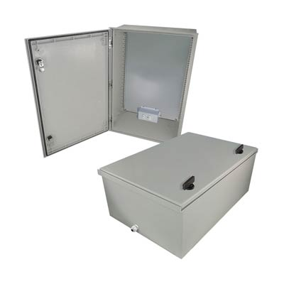 "Altelix 24x16x9"" Fiberglass Enclosure with 120V Power 
