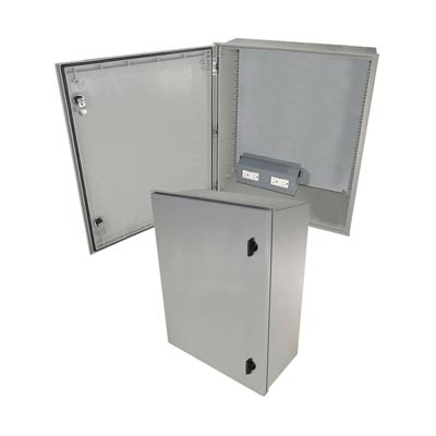 "Altelix 24x20x9"" Fiberglass Enclosure with 120V Power 