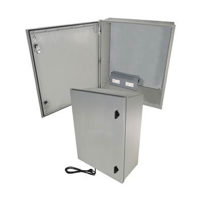"Altelix 24x20x9"" Fiberglass Enclosure with 120V Power | NFC242009A1C"