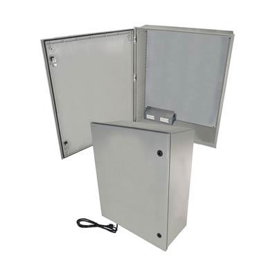 "Altelix 32x24x12"" Fiberglass Enclosure with 120V Power | NFC322412A1C"