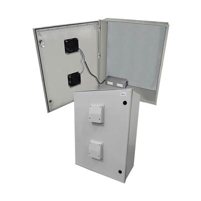 "Altelix 32x24x12"" Fiberglass Enclosure with Cooling Fans & 120V Power | NFC322412VFA1"