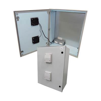 "Altelix 32x24x12"" Fiberglass Enclosure with Heating, Cooling & 120V Power | NFC322412VFHA1-Z"
