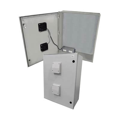"Altelix 32x24x12"" Fiberglass Enclosure with Heating, Cooling & 120V Power | NFC322412VFHA1"