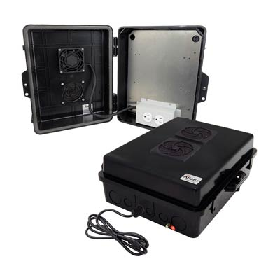 "Altelix 14x11x5"" Polycarbonate Enclosure with Cooling Fan & 120V Power 