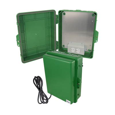 "Altelix 14x11x5"" Polycarbonate Enclosure with 120V Power 