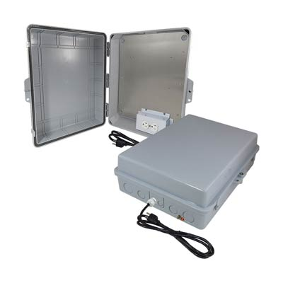 "Altelix 17x14x6"" Polycarbonate Enclosure with 120V Power 