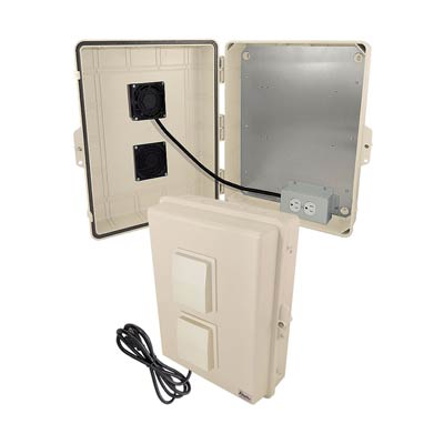 "Altelix 17x14x6"" Polycarbonate Enclosure with Cooling Fan & 120V Power | NP171406TVFA1C"