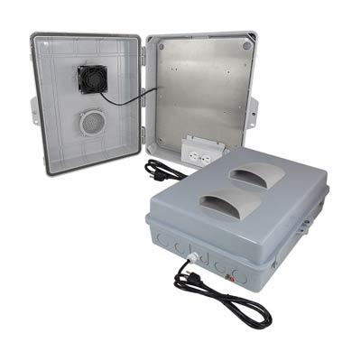 "Altelix 17x14x6"" Polycarbonate Enclosure with Cooling Fan & 120V Power | NP171406VFA1C"