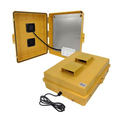 """Altelix 17x14x6"""" Polycarbonate Enclosure with Cooling Fan & 120V Power 