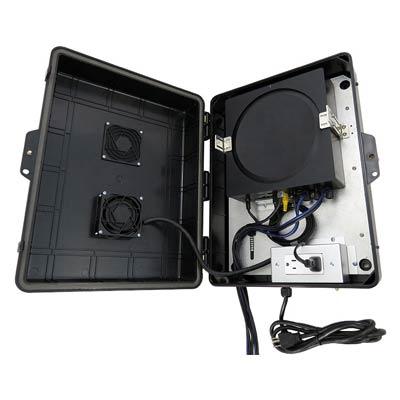 "Altelix 17x13x6"" SONOS AMP Outdoor Enclosure with Cooling Fan & 120V Power | NP17AVBK"