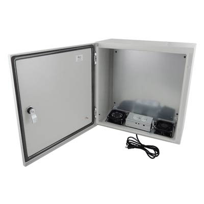 "Altelix 16x16x8"" Metal Enclosure with Cooling Fans & 120V Power 