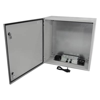 "Altelix 24x24x12"" Metal Enclosure with Cooling Fans & 120V Power | NS242412VFA1C"