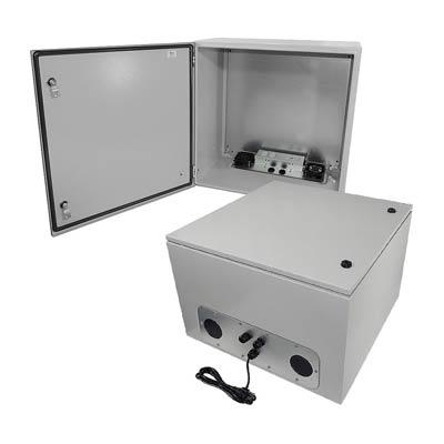 "Altelix 24x24x16"" Metal Enclosure with Cooling Fans & 120V Power | NS242416VFA1C"