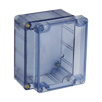 Bud Industries BT-2723 Polycarbonate Electronic Enclosure w/Clear Cover