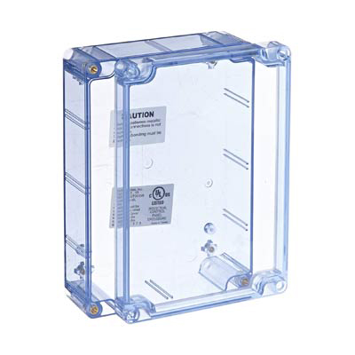 Bud Industries BT-2724 Polycarbonate Electronic Enclosure w/Clear Cover