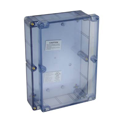 Bud Industries BT-2725 Polycarbonate Electronic Enclosure w/Clear Cover
