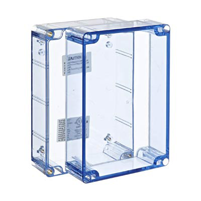 Bud Industries BT-2727 Polycarbonate Electronic Enclosure w/Clear Cover
