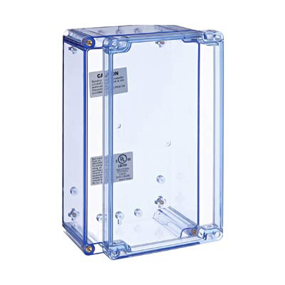 Bud Industries BT-2734 Polycarbonate Electronic Enclosure w/Clear Cover