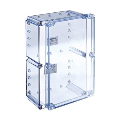 Bud Industries BT-2740 Polycarbonate Electronic Enclosure w/Clear Cover