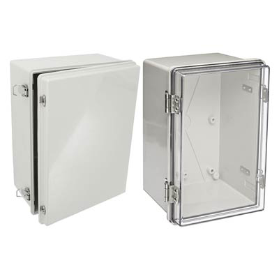 Bud Industries NBA-10142 Polycarbonate Electrical Enclosure w/Solid Cover