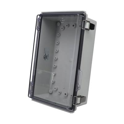 Bud Industries PTQ-11050-C Polycarbonate Electrical Enclosure w/Clear Cover