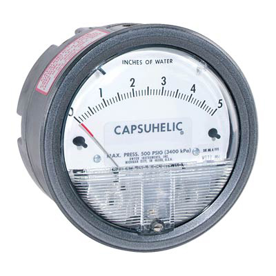 Dwyer 4080 Capsuhelic Differential Pressure Gauge