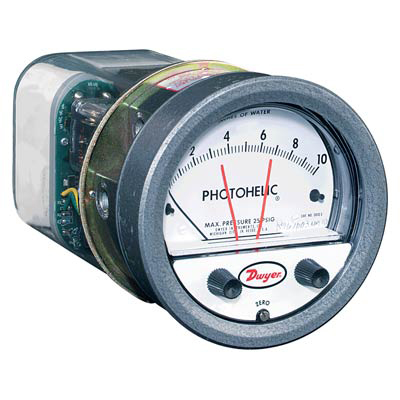 Dwyer A3100 Photohelic Differential Pressure Gauge