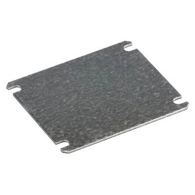 "Ensto DMP0808 Galvanized Steel Back Panel for 3x3"" Electrical Enclosures"