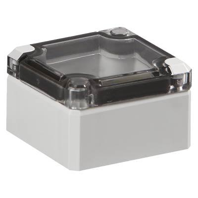 Ensto DPCP050504T.U Polycarbonate Electronic Enclosure w/Clear Cover
