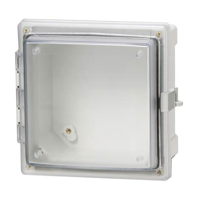 Fibox AR10106CHLT Polycarbonate Electrical Enclosure w/Clear Cover