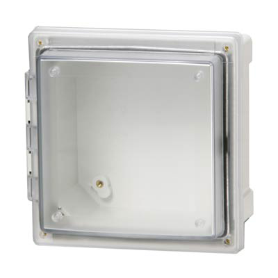 Fibox AR10106CHSCT Polycarbonate Electrical Enclosure w/Clear Cover